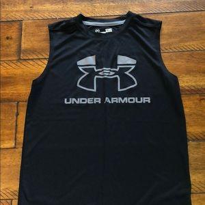 Boys Under Armour sleeveless tee